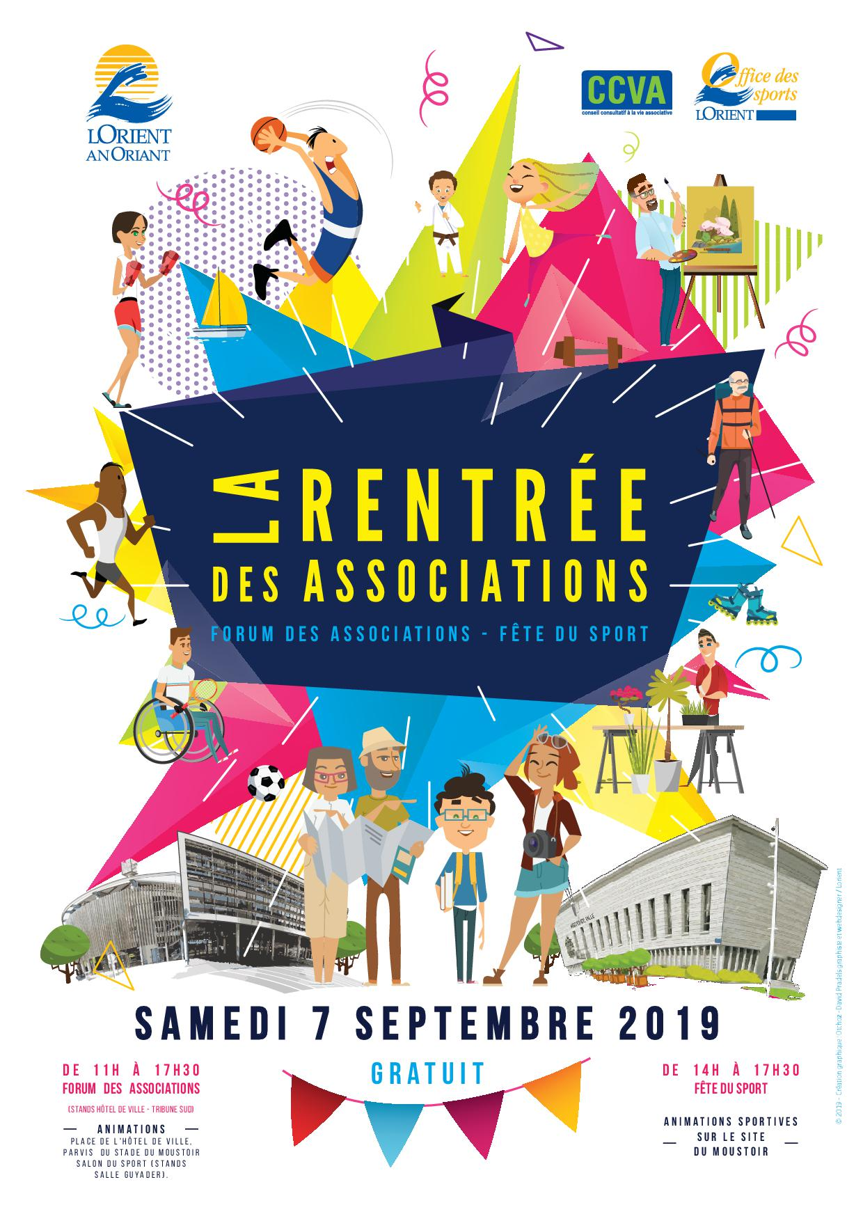 affiche rentree des associations 2019